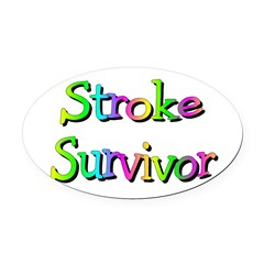 Stroke Survivor Oval Car Magnet