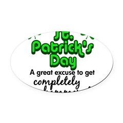St. Patrick's Day Oval Car Magnet