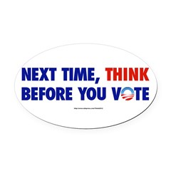 """Think 2012"" Oval Car Magnet"