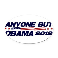Anyone But Obama Oval Car Magnet
