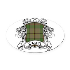 Craig Tartan Shield Oval Car Magnet