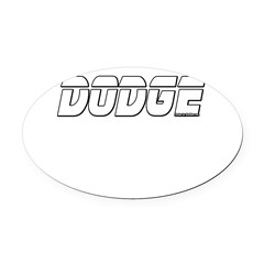 Dodge Oval Car Magnet