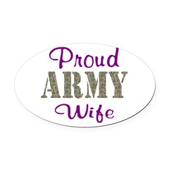 Army Purple Home/Office Oval Car Magnet