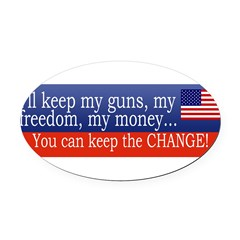 Keep the Change Oval Car Magnet