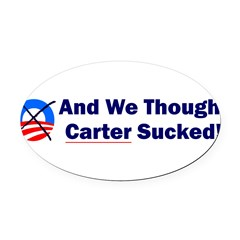 Anti-Obama Oval Car Magnet