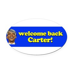 Welcome Back Carter Oval Car Magnet