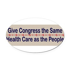 Give Congress Healthcare Oval Car Magnet