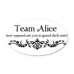 Team Alice Theft Oval Car Magnet