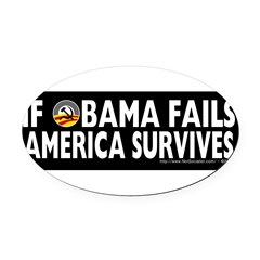 Anti-Obama Obama Fails America Survives Oval Car Magnet