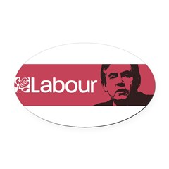 Gordon Brown Labour Party Oval Car Magnet