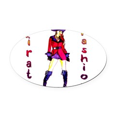 Pirate Fashion Oval Car Magnet