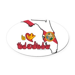 ILY Florida Oval Car Magnet