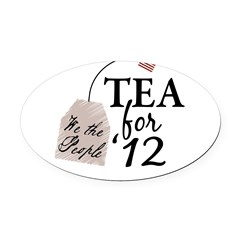 Vote Tea Party 2012 Oval Car Magnet