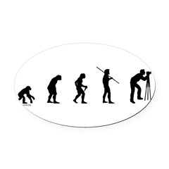 Photog Evolution Oval Car Magnet