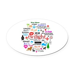 Twilight Memories Oval Car Magnet