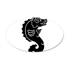 Pigfish Oval Car Magnet