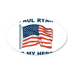 Paul Ryan is my Hero! Oval Car Magnet