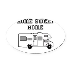 Home Sweet Home Mini Motorhome Oval Car Magnet