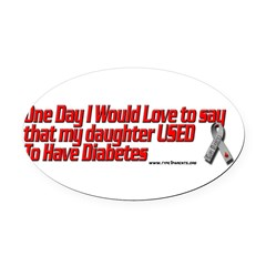 daughter used red Oval Car Magnet
