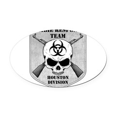 Zombie Response Team: Houston Division Oval Car Magnet