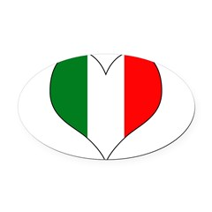 Italy Heart Oval Car Magnet