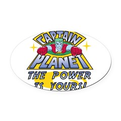 Captain Planet Power Oval Car Magnet