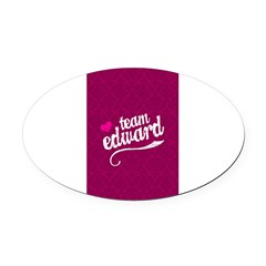 Team Edward Oval Car Magnet