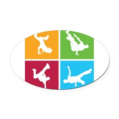 Nice various breakdancing Oval Car Magnet