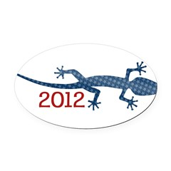Newt 2012 Drawing Oval Car Magnet