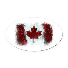 Canadian Graffiti Oval Car Magnet