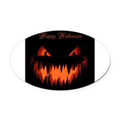Happy Halloween Pumpkin Oval Car Magnet