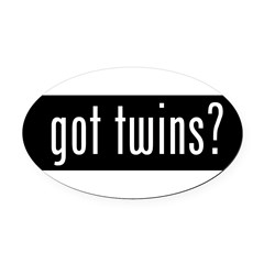 got twins? Oval Car Magnet