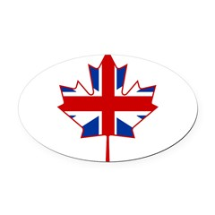 UK Maple Oval Car Magnet