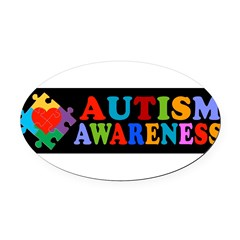 Autism Awareness Oval Car Magnet