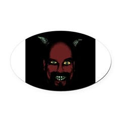 Devil Oval Car Magnet