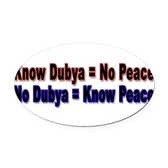 No Dubya Oval Car Magnet