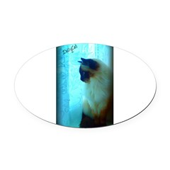 DollyCat Atmosphere - Ragdoll Cat - Oval Car Magnet
