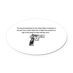 The Second Amendment Oval Car Magnet