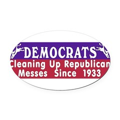 Democrats Oval Car Magnet