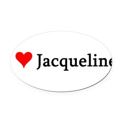 I Love Jacqueline Oval Car Magnet