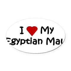Egyptian Mau Oval Car Magnet
