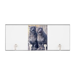 Twin Snow Leopard Cubs Key Hanger