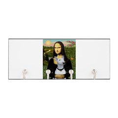 Mona Lisa /Bull Terrier Key Hanger