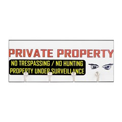 3 x 10 No Trespassing Decal Key Hanger