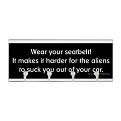 Wear Your Seatbelt Aliens Key Hanger