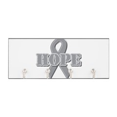 Silver Hope Ribbon Key Hanger