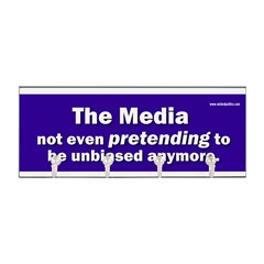 the media not even pretending to be unbiased anymo Key Hanger