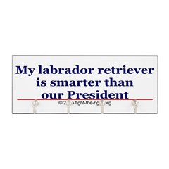 My labrador retriever is smarter (bumper sticker) Key Hanger