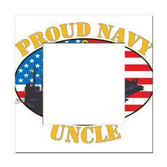 Proud Navy Uncle Square Locker Frame