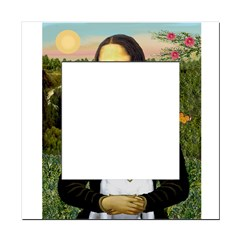 Mona Lisa /Bull Terrier Square Locker Frame
